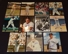 1980's - MLB - BASEBALL PLAYERS - AUTOGRAPHS COLOUR PHOTOS (11) - ORIGINAL