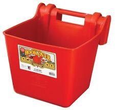 LITTLE GIANT HOOK OVER FEEDER Portable Durable Molded in Bracket 15Qt. Red