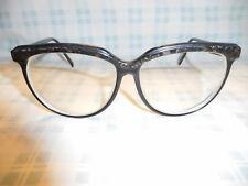 Vintage Amber Pearl Tortoise Oversize 80s Cat Eye Eyeglasses Sunglasses Frame