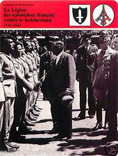 FICHE WWII LVF Légion des Volontaires Français contre le Bolchévisme FRANCE 80s
