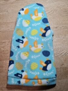 """Hand Made by """"Sphynx Clothes"""" Spring Chicks Fleece """"One Hole"""" Top ...Medium"""