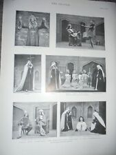 Printed photos play Everyman at The Charterhouse 1901 ref Am