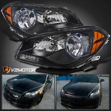 2008-2012 Chevy Malibu Sedan Black Clear Headlights Amber Signal Corner