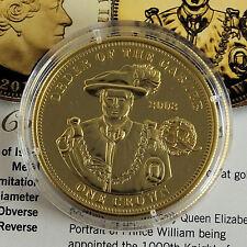 2010 WILLIAM & Catherine Fidanzamento PMS Oro a strati a prova di una corona-COA