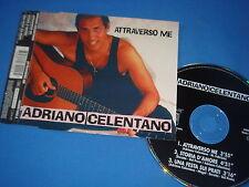 MAXI CD 3 TITRES / ADRIANO CELENTANO / ATTRAVERSO ME / GERMANY 1994 / EX