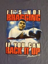 Muhammad Ali Boxing It's Not Bragging If You Can Back It Up T Shirt XL NEW NWT