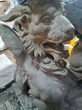Large Cotswold Stone Winged Lions