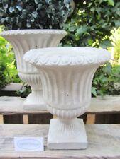 Amphore ANTIK Steinguß beton-grau-weiß 16cm Deko Garten Shabby Vintage k