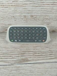 Xbox 360 Chatpad Keyboard White Clip On Controller Official Microsoft ChatPad