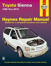 1998- 2010 Toyota Sienna Haynes Repair Service Workshop Manual Book Guide 0824