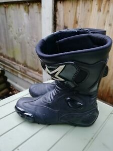 Quality ALPINESTARS SMX 5 SERIES BLACK LEATHER MOTORCYCLE BOOTS SIZE 47 / 12