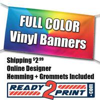 4' X 8' Full Color Custom Printed Banner, 13oz Vinyl - FREE SHIPPING