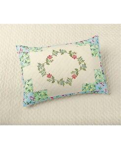 Martha Stewart Collection Cotton Coneflower Diamond Quilted Pillow Sham STANDARD