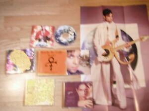 PRINCE LOT OF 4 CD SINGLES PLUS FREEBIE ORIG. POSTER EXC