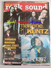rivista ROCK SOUND 37/2001 +CD Marlene Kuntz  +POSTER Timoria (Hed)Planet Earth