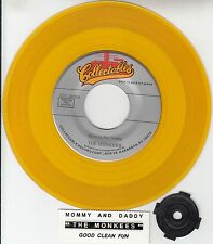 """THE MONKEES  Mommy And Daddy & Good Clean Fun YELLOW VINYL 7"""" 45 rpm record NEW"""