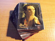 BUFFY THE VAMPIRE SLAYER, THE STORY SO FAR COMPLETE BASIC SET OF 81 CARDS