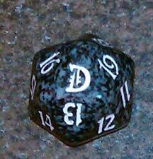 1 Black SPINDOWN Die Deckmaster - 20 sided Spin Down Dice MtG Magic the Gatherin
