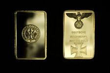 OR/GOLD 24 K PL 999% LINGOT ALLEMAGNE  1940/1945 AIGLE 30 GRAMMES