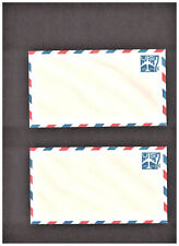 TWO 7c EMBOSSED STAMPED MINT AIR MAIL ENV. /SCOTT #UC33