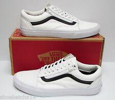 Vans Men's Old Skool Zip Premium Leather True White VN00018GEWB Size 13