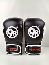 9 Round 30 Minute Kickbox Fitness Boxing Gloves, Black & White