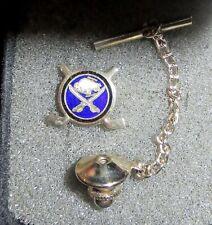 vintage 1970s BUFFALO SABRES HOCKEY TIE TACK metal enamel LAPEL HAT PIN NHL
