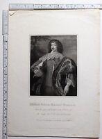 C1815 Antiguo Estampado ~ William Villiers Viscount