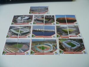 """Panini World Cup South Africa 2010 5 x Complete Set of Stadium Stickers """"5 SETS"""""""