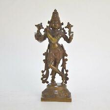 Statuette de Shiva en bronze patiné 21 cm