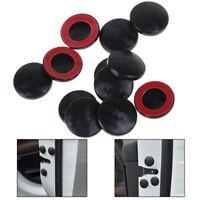 12Pcs Universal Car Carbon Fiber Interior Door Lock Screw Protector Cover Cap JE