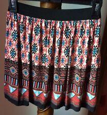 Forever 21 Mini Skirt Size PS Above Knee Multi Color Rayon Geometric Print