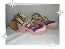 D- Gorgeous Shoes Fancy Suede Fabric Pink Purple Boom Bap Point 37