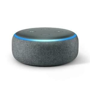 Amazon Echo Dot 3rd Generation Smart Speaker with Alexa - Charcoal Grey Black