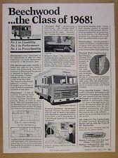 1968 Beechwood Imperial & Vacationer Motorhome RV photos vintage print Ad