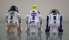 Lot of 3 Disney Star Wars 2012 Droid Factory Build A Droid BAD - Purple / Blue