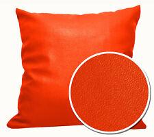 Pb316a Bright Orange Faux Leather Skin PU Cushion Cover/Pillow Case *Custom Size