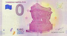 BILLET 0  EURO TOMBEAU DE NAPOLEON  PARIS FRANCE 2018 NUMERO DIVERS