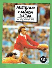 #Kk Rugby Union Program - Australia V Canada 1st Test June 15th 1985
