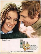 PUBLICITE ADVERTISING 105  1970  ESPACE  parfum femme CHERAMY