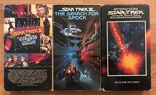 Star Trek II, III, IV (VHS) 1982-1992 • 2, 3, 4, Wrath of Kahn, Search for Spock