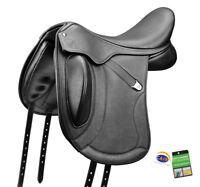 Bates Innova Mono+ Luxe Dressage Adjustable Deep Performance Saddle CAIR Black