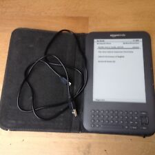 Amazon Kindle 3rd Generation Keyboard 3G Wi-Fi In Cover De-registered