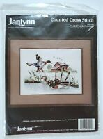 """Vtg Janlynn Peaceful Gathering Counted CrossStitch Kit 16""""x12"""" #80-89 NEW Sealed"""