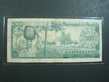Rwanda 500 Francs 1971 P9b Cir Scarce 76# World Africa Banknote Paper Money