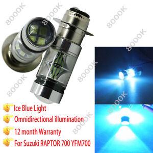 100W 8000K H6 LED Headlight Head Light For Kawasaki Bayou 220 300 KLF220 Prairie