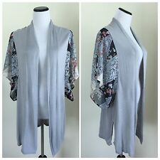 Oasis Top Tunic Cardigan Sweater Open Front Kimono Sleeve Size Small S