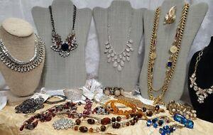 Craft Jewelry Lot Vintage to Now Leslie Danzis Pier One Crown Trifari  JL-153