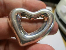 Repousse Heart Pin 1.5 Inch Brooch New listing Sterling Silver 925 Estate Taxco Southwest