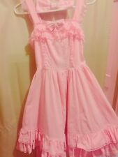 Pink ANGELIC PRETTY Lolita JSK dress w/ detachable bow & zip side (size S to M)